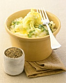 Colcannon (mashed potato with cabbage and leeks, Ireland)