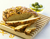 Marigold and onion bread with  cheese topping