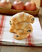 Sweet croissants with apple and poppy seed filling
