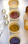 Various jams from Provence and pollen