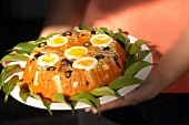 Cuscuz Paulista (corn pancakes with vegetables)