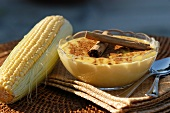 Curau de Milho (Brazilian maize pudding with cinnamon)