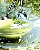 Spring cream of herb soup
