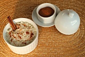 Sweet cinnamon rice from Brazil (Arroz doce)