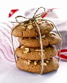 Caramel nut cookies