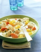Fish stew with potatoes and carrots