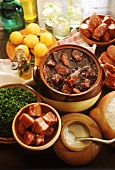 Feijoada (stew with black beans and meat, Brazil)