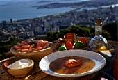 Caldo de Camaroes (Shrimpsbrühe mit Maniokmehl, Brasilien)
