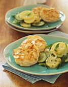 Fish cakes with almond coating