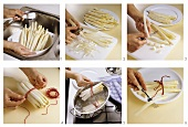 Preparing asparagus: basic steps
