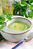 Chlodnik ogorkowo-mietowy (cold minted cucumber soup, Poland)