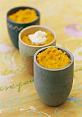 Thick pumpkin soup with cream