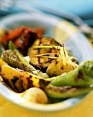 Barbecued summer vegetables