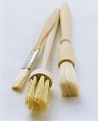 Three different pastry or basting brushes