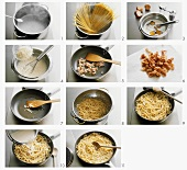 Making spaghetti alla carbonara