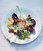 Mixed salad with sprouts and coconut dressing