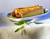 Canelloni mit Bolognese und Mozzarella