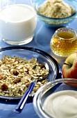 Healthy breakfast with Bircher muesli