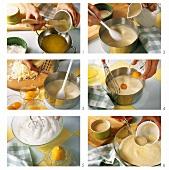 Käsesouffle zubereiten