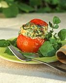 Tomato stuffed with fish