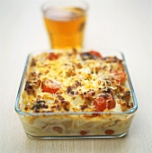 Pasta bake with fennel and tomatoes