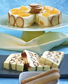 Ice cream cakes: tiramisu and orange