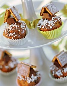 Gingerbread house muffins