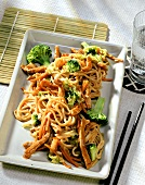 Mie goreng (Indonesian noodles with meat & vegetables)