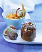 Spicy mango chutney and fig chutney