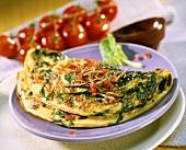 Tomaten-Spinat-Omelette