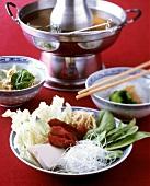Chinese lamb fondue (Mongolian fondue)