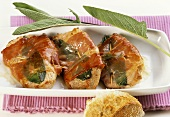 Saltimbocca (veal escalope with sage and Parma ham)