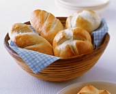 Home-made emperor's rolls and bread rolls in bread basket
