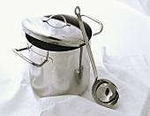 Soup pot with ladle