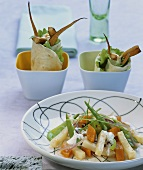 Celeriac and pumpkin, parsley root and pumpkin wraps