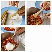Rhabarber-Erdbeer-Konfitüre zubereiten