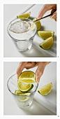 Making cocktails such as Mai Tai or Caipirinha