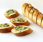 Herb baguette (oven-baked baguette with herb butter)