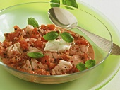 Fish goulash with tomatoes