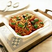 Pomodori in insalata (spicy tomato slices, Italy)