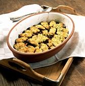 Cozze gratinate (mussel gratin), Apulia, Italy