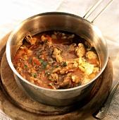 Minestra di baccala (stockfish soup), Basilicata, Italy