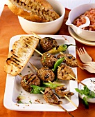 Lamb and mince kebab with chili peppers