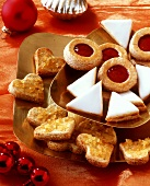 Lemon triangles, Linzer biscuits and ginger hearts