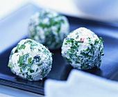 Cheese balls with mint