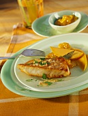 Nile perch with mango chutney