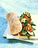 Vegi sandwich with Mediterranean vegetables
