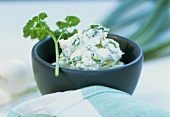 Soft cheese dip with herbs