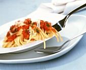 Spaghetti alla napoletana (spaghetti with tomatoes & basil)