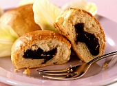 Yeast rolls with Powidl (plum puree) for diabetics